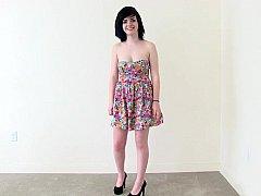 Awkward brunette casting